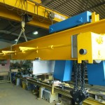 Double beam, top running, hand geared crane