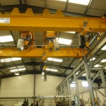 Double beam crane SWL 16 tonne fitted with 4 Liftket hoists