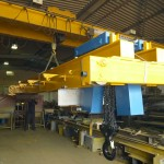 Double beam hand geared crane